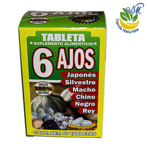 6 ajos de 60 tabletas