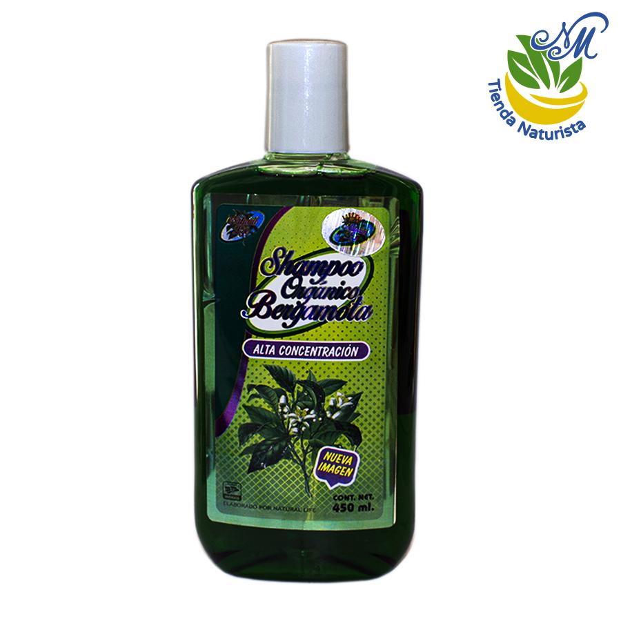 shampoo orgánico de bergamota de 450 ml